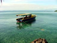 Water Taxi on Bega Island Fiji